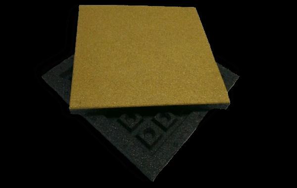 Резиновая плитка 500х500 50мм тип II (оригинальное монтажное основание)
