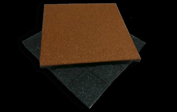 Резиновая плитка 500х500 40мм тип I (гладкое монтажное основание)